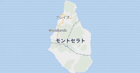 モントセラト地図