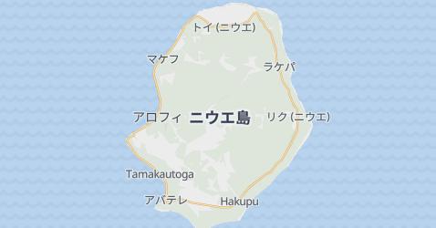 ニウエ島(ニュー・ジーランド)地図