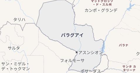 パラグアイ地図