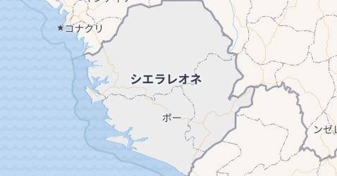 シエラ・レオーネ地図