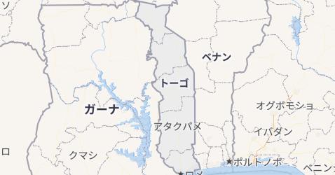 トーゴー地図