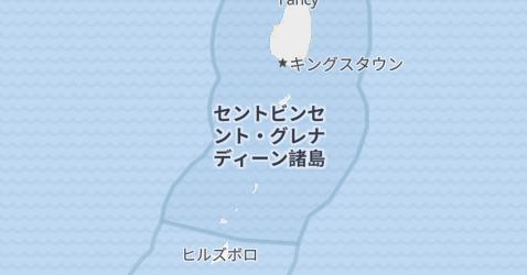 セント・ヴィンセント及びグラナディーン諸島地図