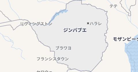 ジンバブエ地図