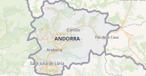 Andorra kaart
