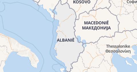 Albanië kaart