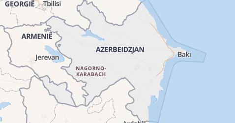 Azerbeidzjan kaart