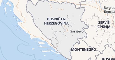 Bosnië-Herzegovina kaart