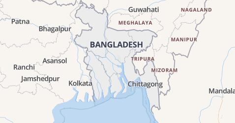 Bangladesh kaart