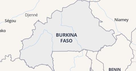 Burkina Faso kaart