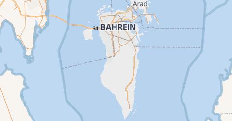 Bahrein kaart