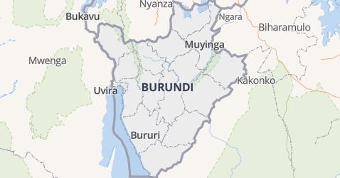 Burundi kaart