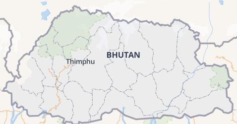 Bhutan kaart