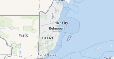 Belize kaart