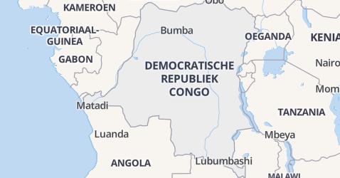Democratische Republiek Congo kaart