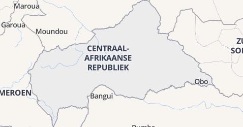 Centraal-Afrikaanse Republiek kaart