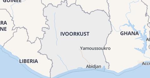 Ivoorkust kaart