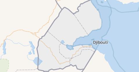 Djibouti kaart