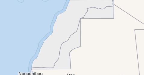 Westelijke Sahara kaart