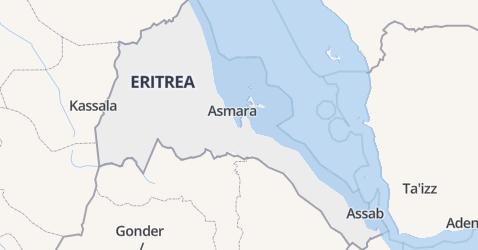 Eritrea kaart