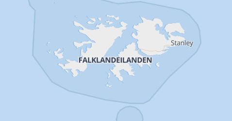 Falklandeilanden kaart