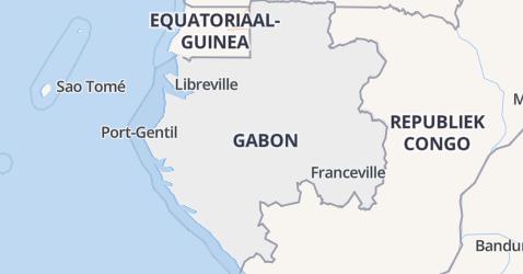 Gabon kaart