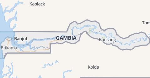 Gambia kaart
