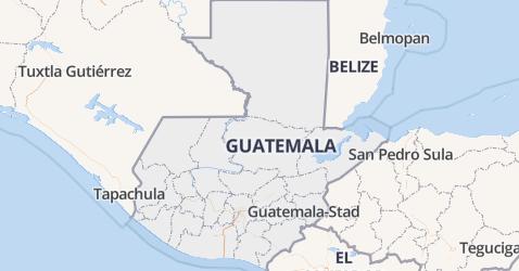Guatemala kaart