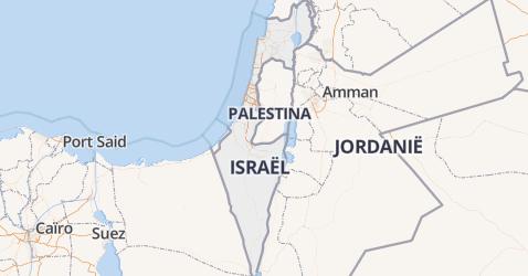 Israël kaart