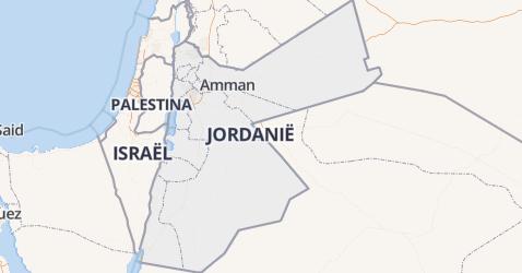 Jordanië kaart