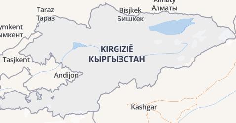 Kirgizstan kaart