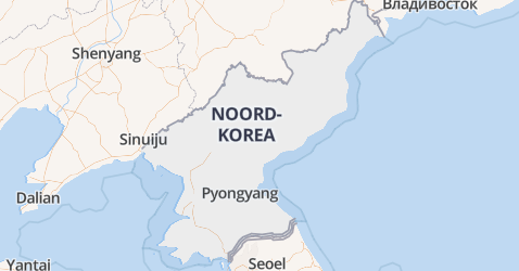 Noord-Korea kaart