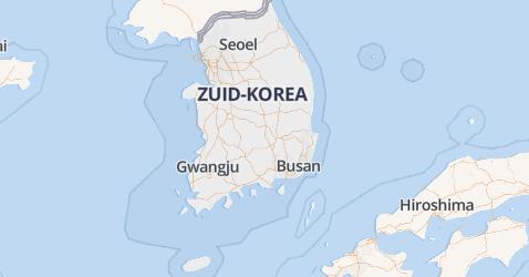 Republiek Korea kaart