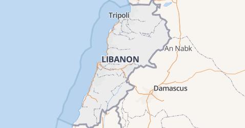 Libanon kaart