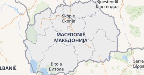 Voormalige Joegoslavische Republiek Macedonië kaart