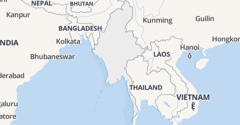 Myanmar kaart