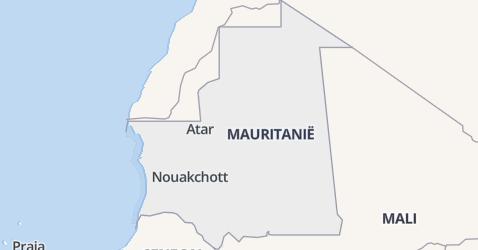 Mauritanië kaart