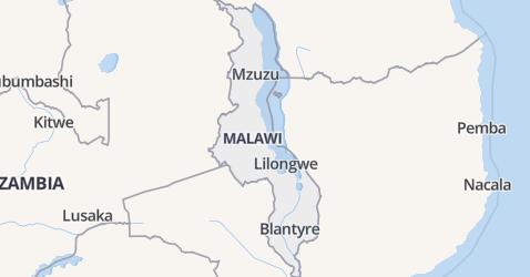 Malawi kaart