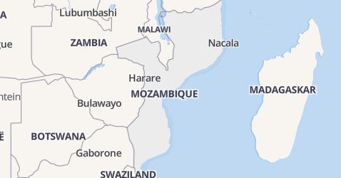 Mozambique kaart