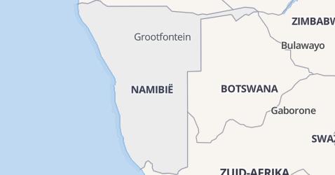 Namibië kaart