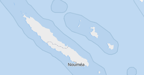 Nieuw-Caledonië kaart