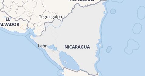 Nicaragua kaart
