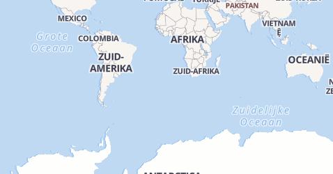 Nieuw-Zeeland kaart