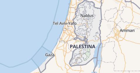 Palestijnse gebieden kaart