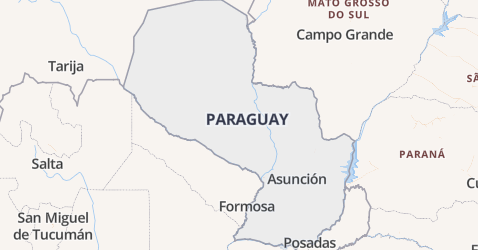 Paraguay kaart