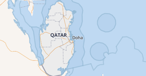 Qatar kaart