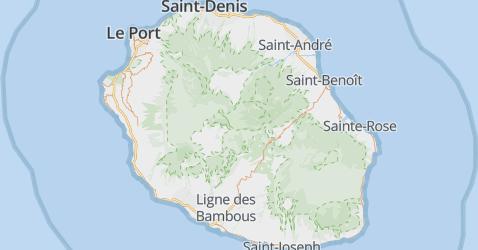 Réunion kaart