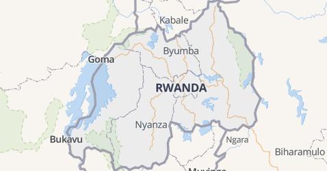 Rwanda kaart