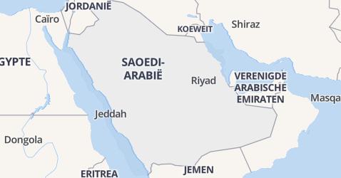 Saudi-Arabië kaart