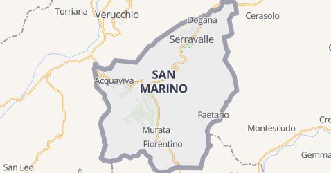 San Marino kaart