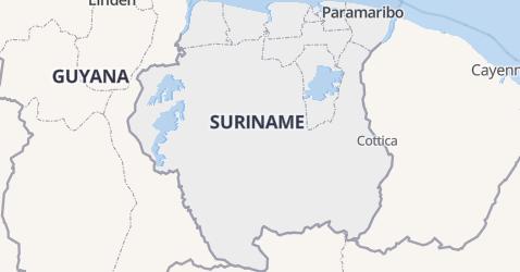 Republiek Suriname kaart